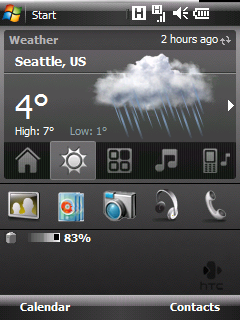 HTC Weather Celsius Display
