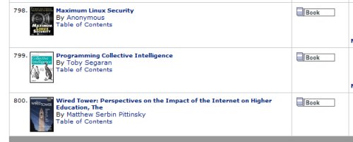 O'Reilly Programming Collective Intelligence Search Result 799