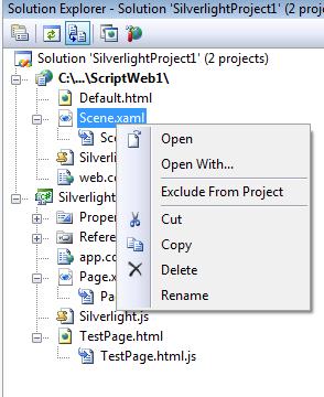 Silverlight XAML context menu
