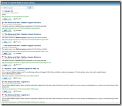 Bloglines Beta Feed Search
