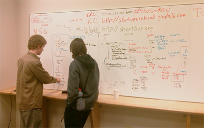 Seattle Startup Weekend Whiteboard