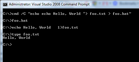 Windows Command Shell