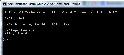 Windows Command Shell